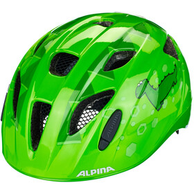 Alpina Ximo Flash Casque Enfant, green dino